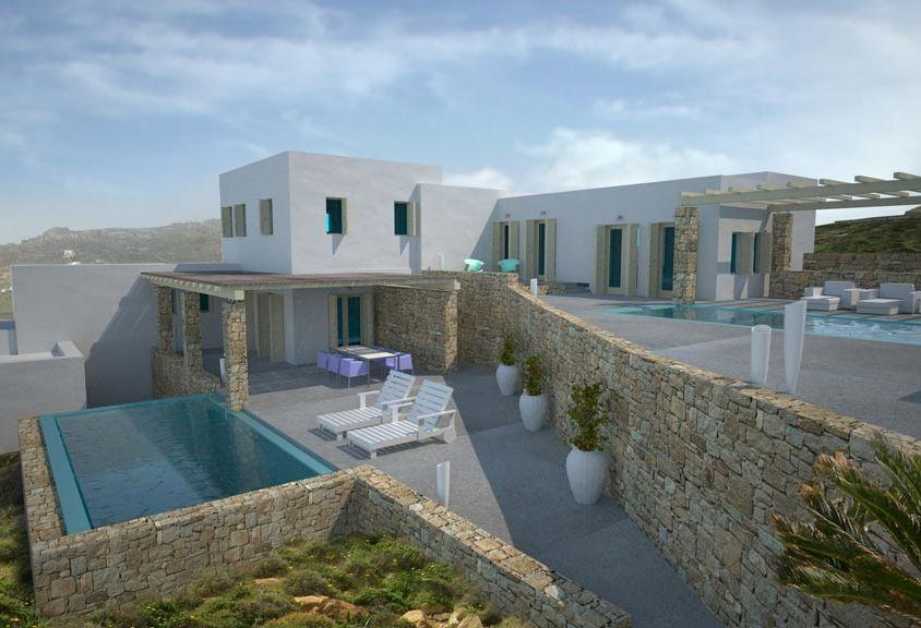 Συγκρότημα κατοικιών στο Καλό Λιβάδι Μυκόνου